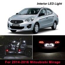 8 pièces LED éclairage intérieur Kit de remplacement pour 2014-2016 Mitsubishi Mirage dôme tronc plaque dimmatriculation lumière