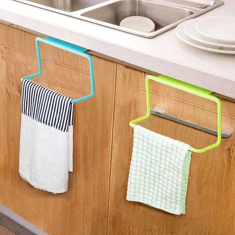 Puerta Nueva, toallero para té, soporte para colgar en barra, organizador de rieles, armario de baño, percha de armario, accesorios de cocina SCI88