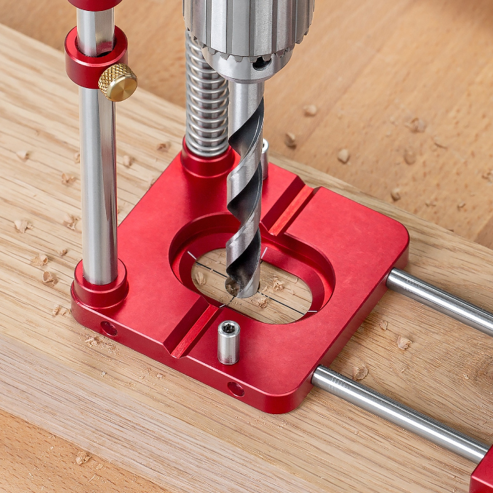 Woodworking Positioning Tool Portable Drill Locator Woodpeckers Precision Positioner Wood Boring Machine Machinery Fast Shipping