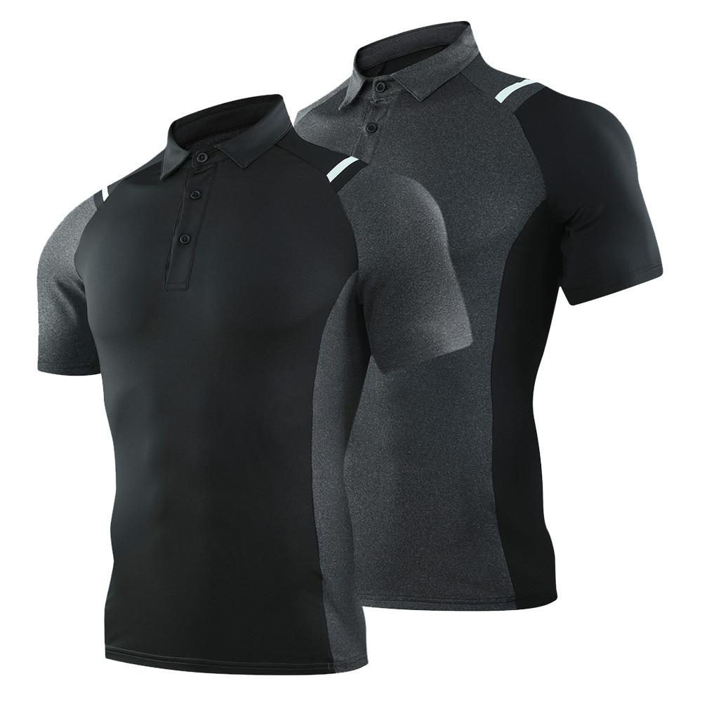 ¡Novedad de 2020! Camisa de golf de manga corta transpirable, ropa de golf de 8 colores, camisa deportiva XS-XXXL selección, ropa de golf negra y gris