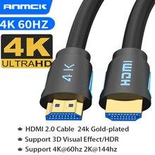 Anmck 4K HDMI Cable HDMI 2.0 Ultra HD Audio Wire For Mi Box TV Box PS5  Projector Laptops 8k HDMI Sp