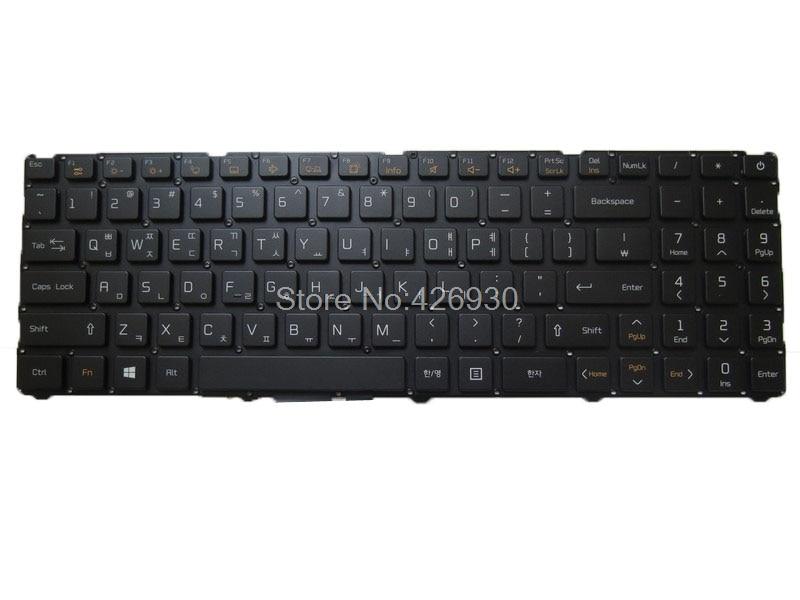 لوحة مفاتيح لأجهزة الكمبيوتر المحمول LG 0KN1-401KO12 WBM17H33K0J528 AEW73989801 بدون إطار كوريا KR مع الخلفية