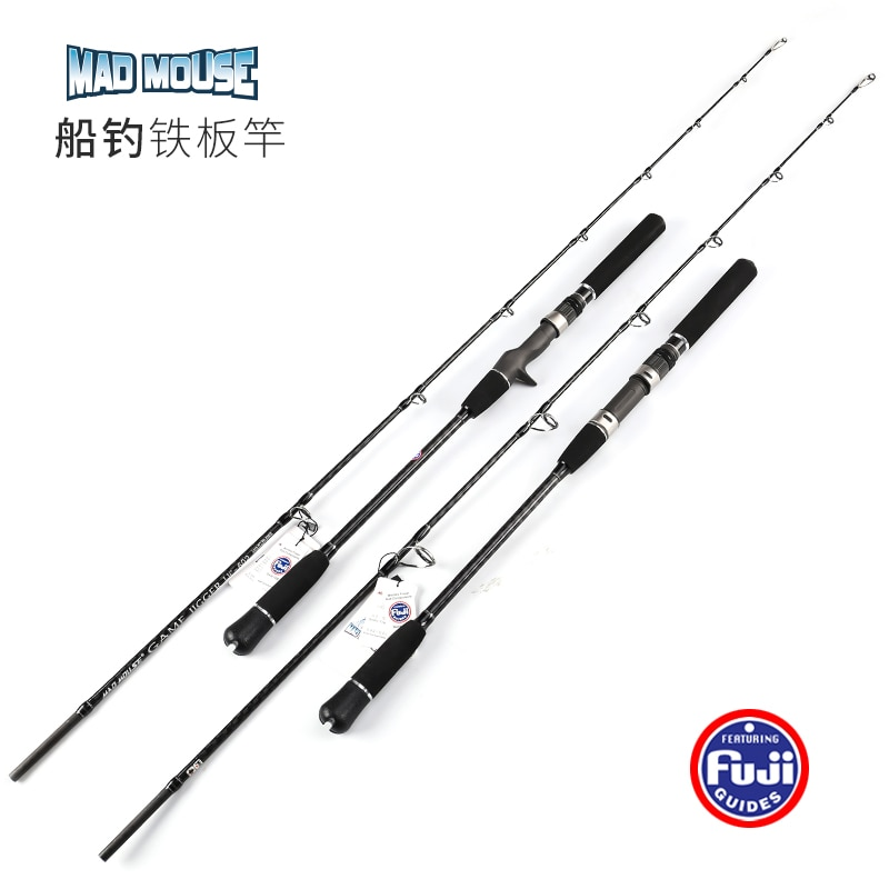 NewJapan Full Fuji Parts MADMOUSE Jigging Rod 1.8M PE 2-4 Lure Weight 60-200G 20kgs Spinning/casting