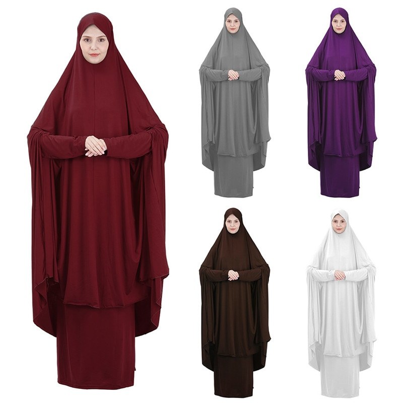 Prayer Garment Muslim sets Hooded hood and skirt hijab femme musulman pour prière tenue de priere femme hidjab musulman femme