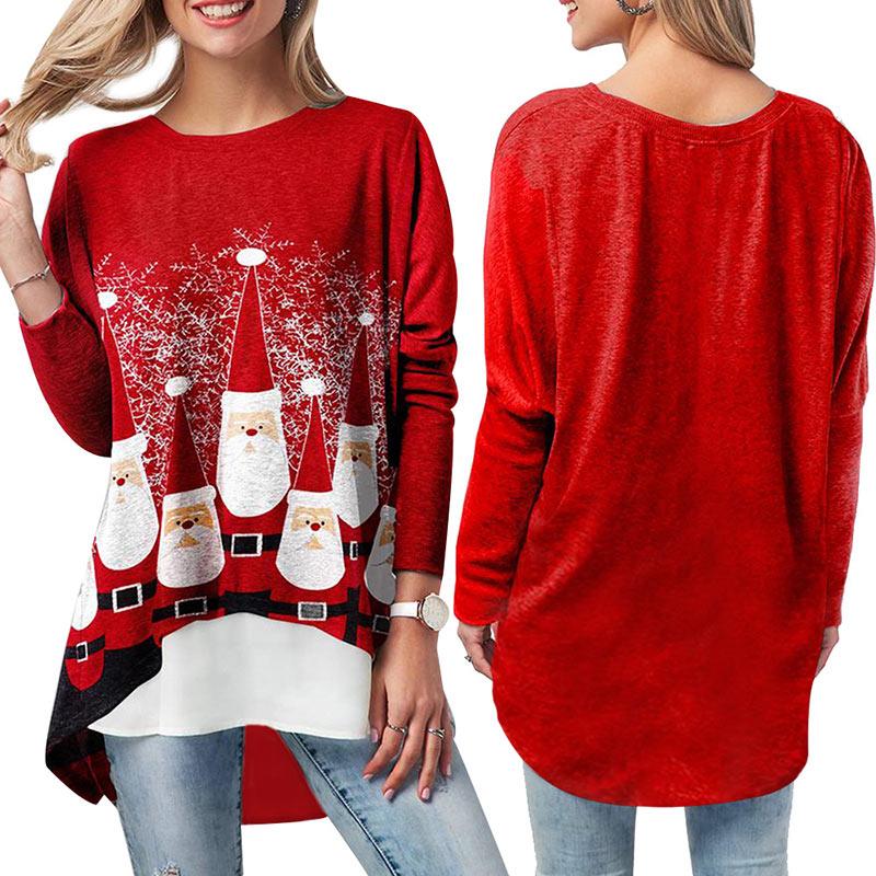 Фото - Женская обувь с рождественским принтом футболка с длинными рукавами и фальш-вставкой, с круглым вырезом Топы TC21 футболка laredoute с круглым вырезом и длинными рукавами massachusetts l белый