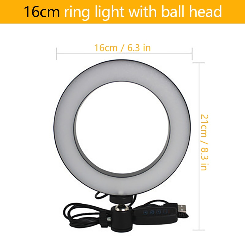 Dimmable Fill Light Studio Camera Video Live 64 LED Ring Lamp Tripod Selfie Ring Stick Phone Stand for Camera Smartphone Studio