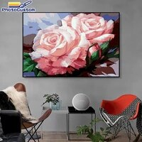 photocustom unique gift diy handpainted oil painting by numbers peony flower for adults children paint home decor