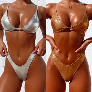 2pcs Sexy Women Summer Swimwear Bikini Set Bra Triangle Suit Swimsuit Bathing Suit Swimming Suit
