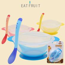 Набор детских чаш с крышкой, детская ложка с датчиком температуры, посуда, обучающая посуда, тарелка, поднос, чашка, Детские тренировочные столовые приборы TSLM