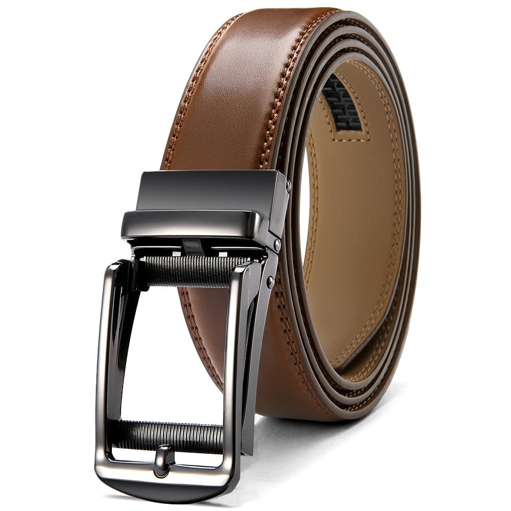 AliExpress - JACNAIP Adjustable Ratchet Men Belts Luxury Business Design Automatic Alloy Buckle Cow Leather Belt for Men 3.5cm Мужской ремень