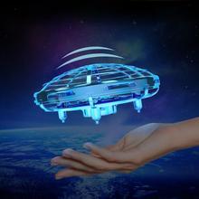 Mini enfant 4 Axiss LED éclairage Induction main volant avion jouet Induction Drone enfants jouet électronique