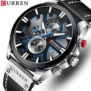 CURREN Men Watches Top Brand Luxury Sports Quartz Mens Watch Waterproof Chronograph Date Wristwatch Clock Relogio Masculino