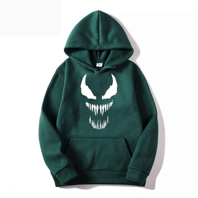 Мужская спортивная одежда Venom, толстовка с капюшоном, спортивная одежда, одежда для тренировок на весну и осень, одежда для бега