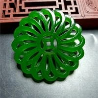 natural green hand carved hollow jade pendant fashion boutique jewelry mens and womens reincarnation necklace gift accessories