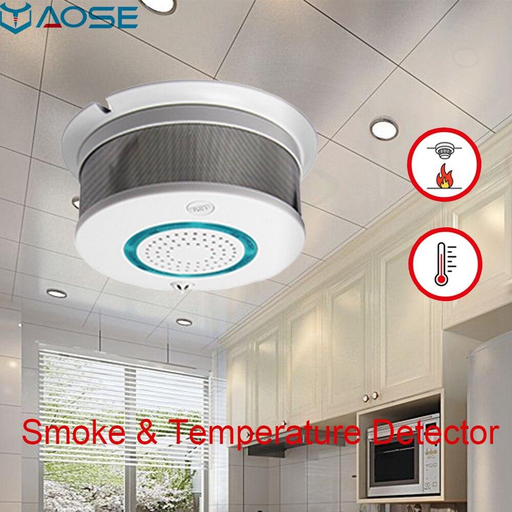 YAOSE WIFI беспроводной детектор дыма домашняя система охранной сигнализации с противопожарной защитой Нижняя батарея напоминание