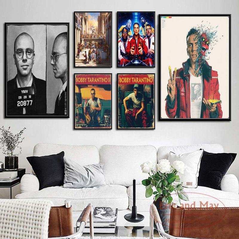 Logic горячий новый альбом Тарантино конфессия опасного разума хип-хоп рэп Искусство Живопись Винтаж Холст плакат настенный домашний декор