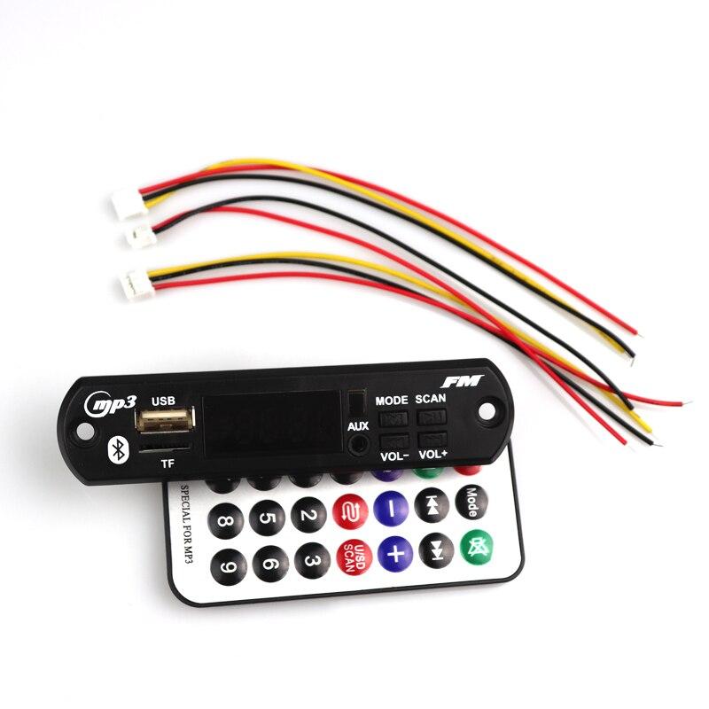 12 В Bluetooth 5.0MP3 WMA декодер плата аудио модуль USB TF радио Беспроводная Музыка MP3 плеер Пульт дистанционного управления для автомобиля аксессуары