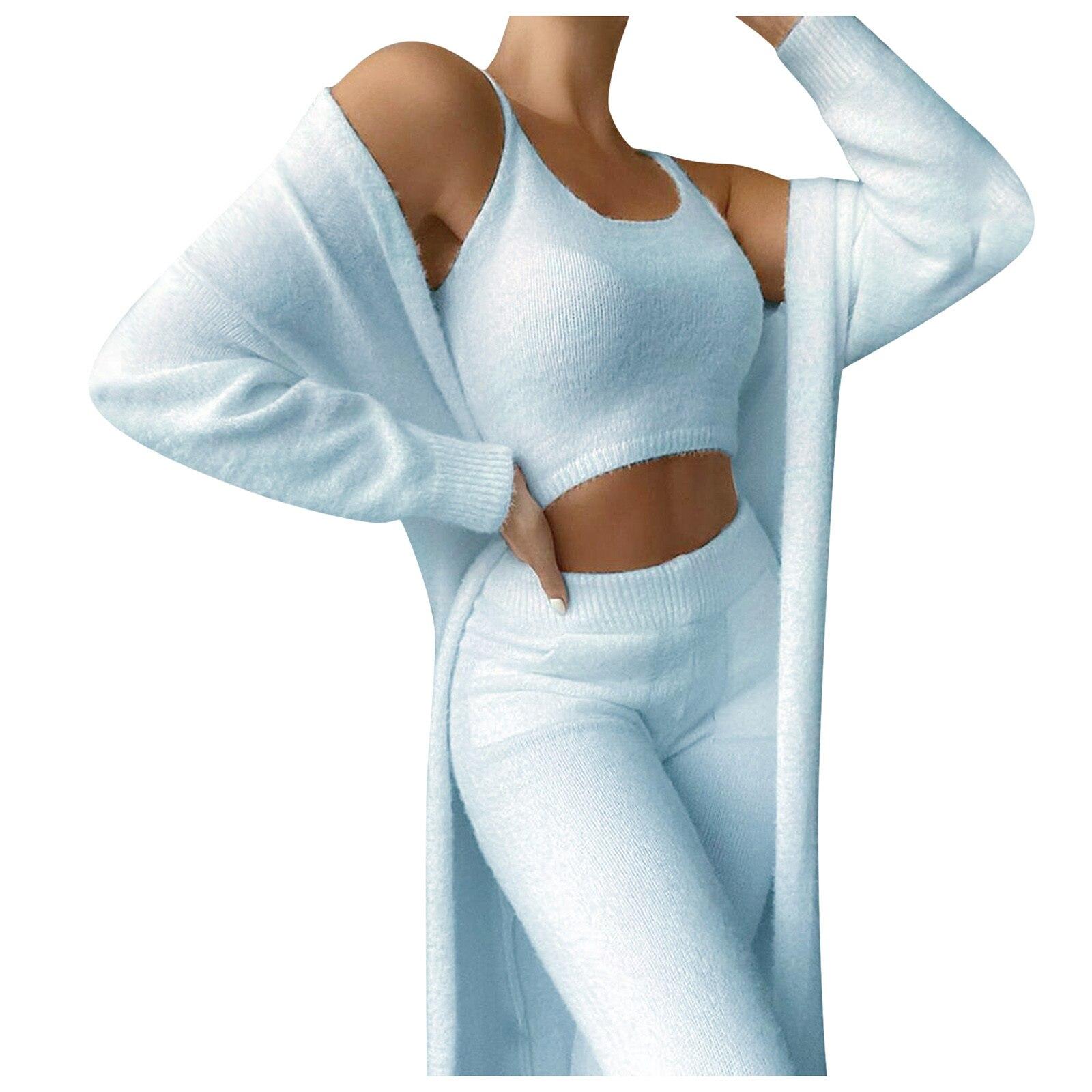 Inverno feminino de pelúcia fatos de treino senhoras casual roupas esportivas sólido mangas compridas 3 peça conjunto feminino sexy magro ternos esportivos traje # yl10