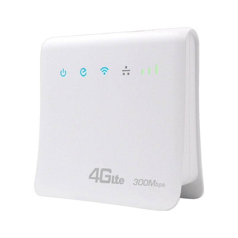 300Mbps موزع إنترنت واي فاي s 4G LTE CPE موبايل راوتر مع منفذ LAN دعم بطاقة SIM المحمولة اللاسلكية موزع إنترنت واي فاي-الاتحاد الأوروبي التوصيل