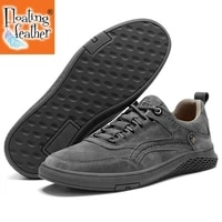 men shoes fashion genuine leather loafers breathable autumn lace up comfortable casual shoes outdoor men sneakers shoes