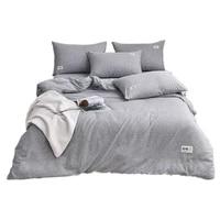 color cotton four piece set sheet type bed sheet four piece set simple duvet cover double bed sheet single