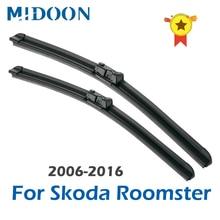 "MIDOON Wischer Klingen für Skoda Roomster 21 ""& 21"" Push-Taste 2006 2007 2008 2009 2010 2011 2012 2013 2014 2015 2016"