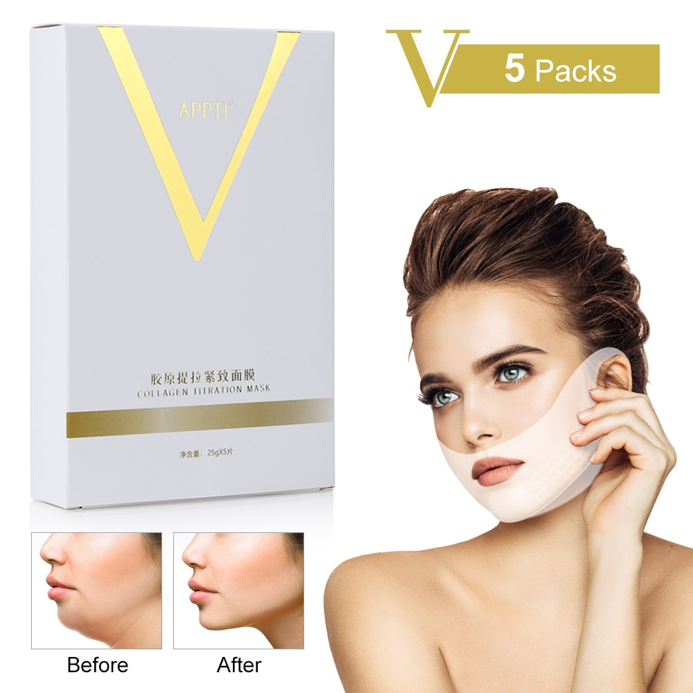 Mascarilla de levantamiento Facial en forma de V, mentón, mejilla, elevación de oreja, colgante de hidrogel para cuello, máscara de vendaje Facial, herramientas para el cuidado de la piel, Dropshipping