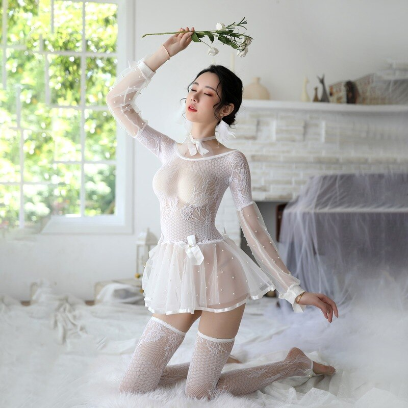 sexy skirt for sex uniform lingerie cosplay sex princess dress mini sexy skirt erotic lace bodystocking Fishingnet bdsm babydoll