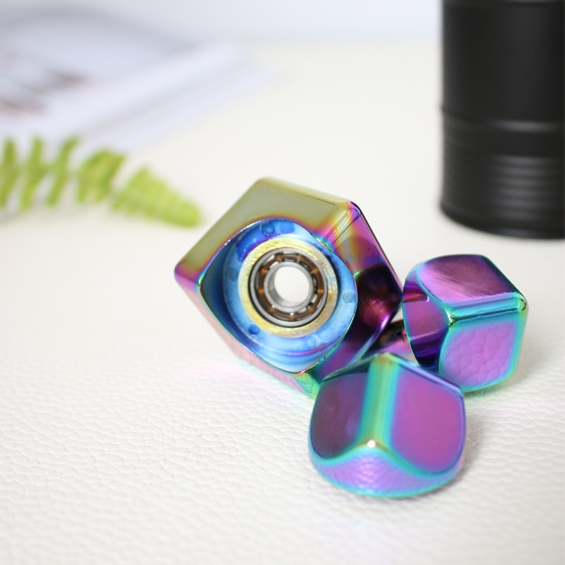 EDC Hand For Autism ADHS Fear Relief Focus Colour Spinning Fidget Spinner Stress Relief Metal Decompression desk toy gift enlarge