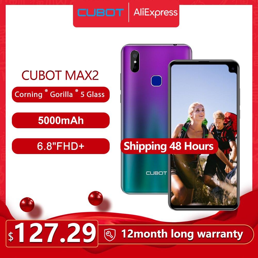 Перейти на Алиэкспресс и купить Cubot Max 2 смартфон Восьмиядерный 6,8 дюймБольшой Экран 5000 мА/ч, Тип-C 4 Гб + 64 ГБ Android 9,0 двойной Камера 12MP 4 аппарат не привязан к оператору сотовой связ...