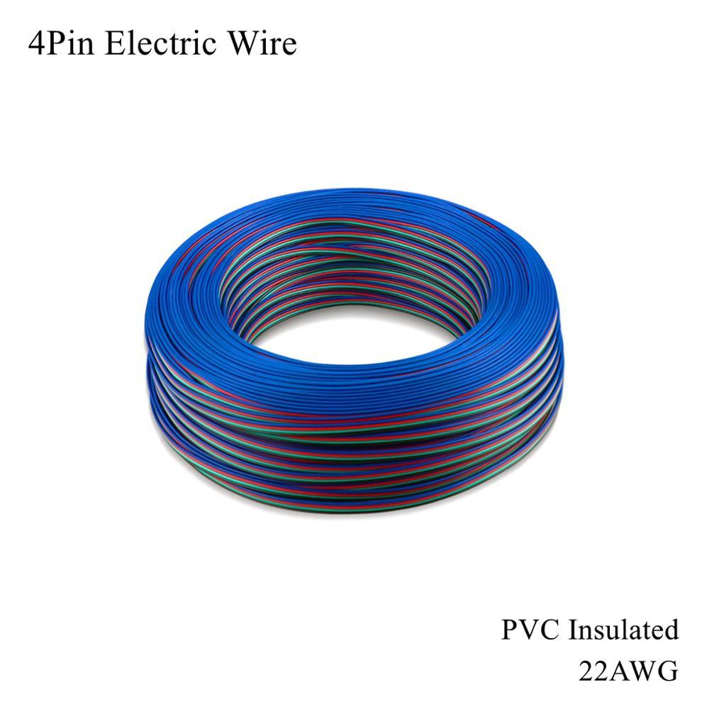 22AWG 4Pin Cable eléctrico cobre estañado de Cable de PVC aislado Electrica...