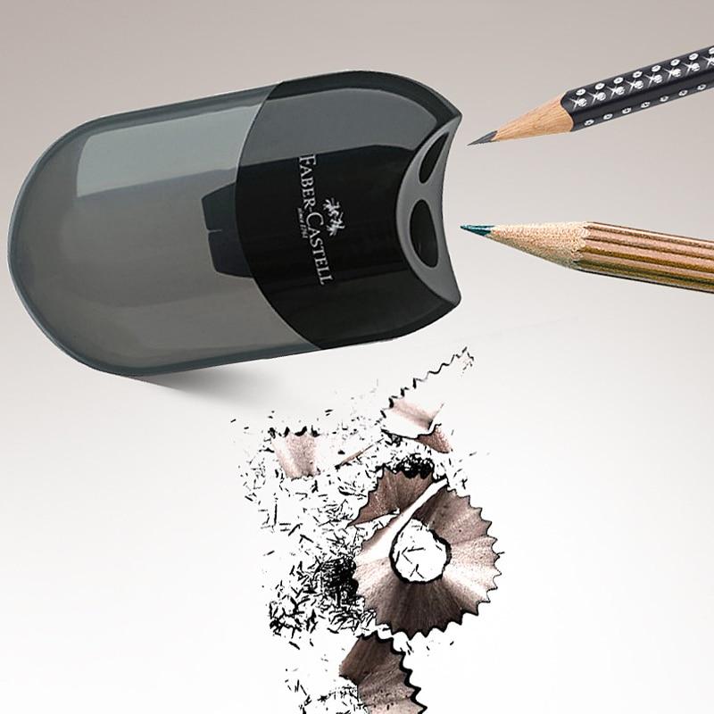 Женская точилка для карандашей с двумя отверстиями, необычная прозрачная ручка, нож, кавайная детская Студенческая режущая канцелярия, шко...