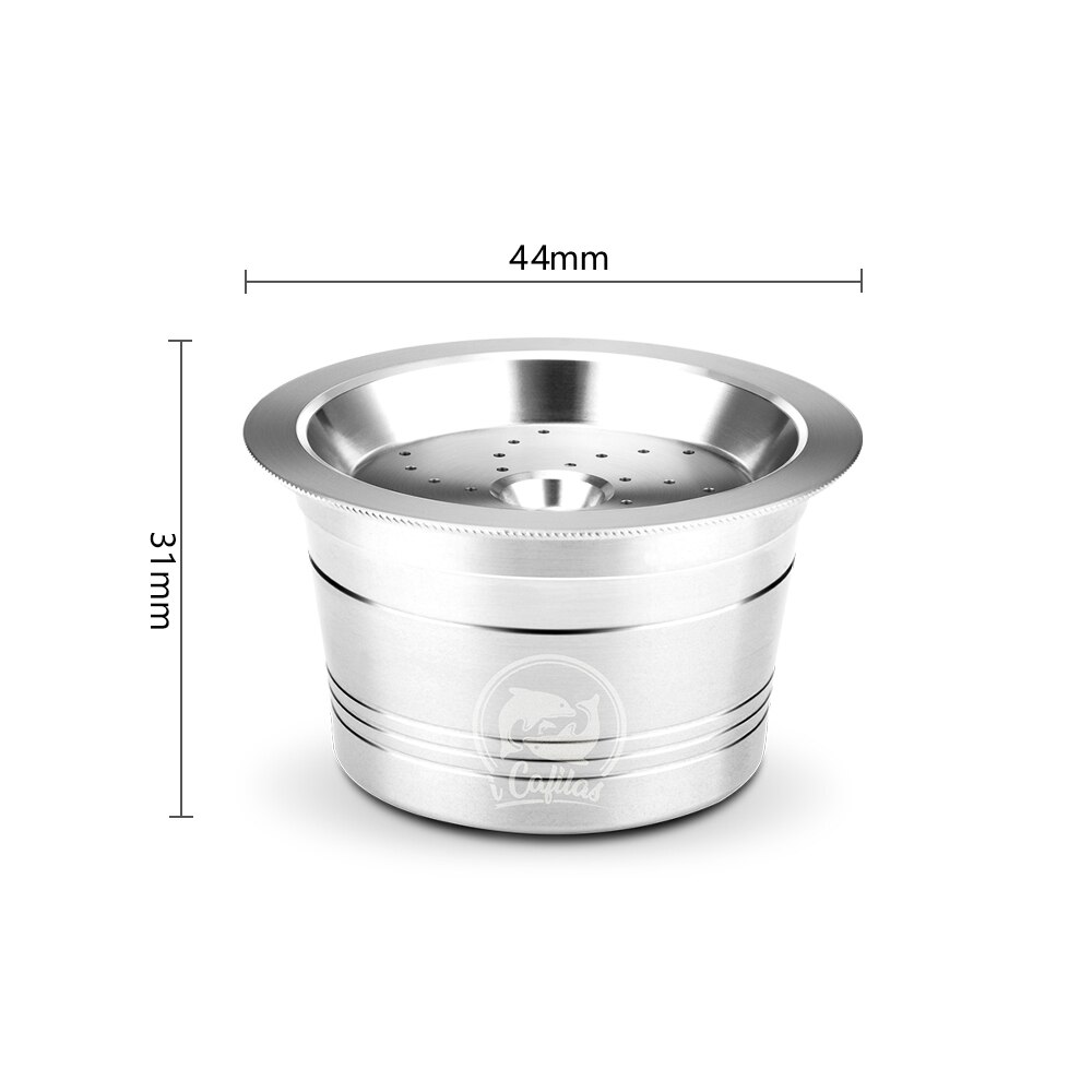 Reusable Coffee Capsule Set Stainless Steel Refillable Capsule for Cafissimo Classic Machine with Spoon Brush Coffee Filter  - buy with discount