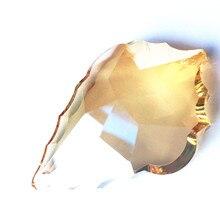 (Anneau gratuit) Top qualité 63mm K9 cristal feuille dérable champanel couleur lustre pendentif/cristal éclairage partie arbre de noël déco