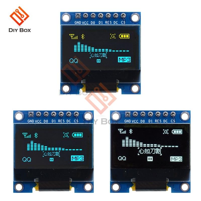 0.96 polegada i2c iic spi 128x64 display oled stm32 csr ssd1306 12864 placa de tela lcd gnd vcc scl sda 7pin dc 3-5 v para arduino