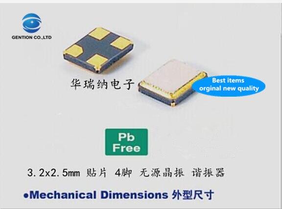 30 pces 100% novo e original e3sb12.0000f09s11 9pf 10ppm passivo smd cristal 3225 12 m 12 mhz