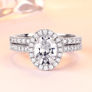 YTF1333 925 Sterling Silver Heart Ring couple with zircon