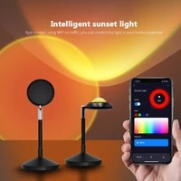wifi sunset projector lamp usb led night light for coffee store party lighting color changeable work with tuya smart life