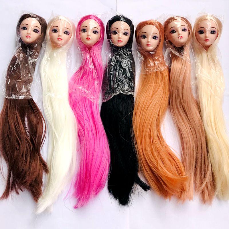Accesorios para muñecas de juguete para niños, pelo de colores marrones, color...
