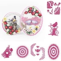 christmas bird flower ladybug stamps and dies new arrival 2021scrapbook diary decoration stencil embossing template diy greeting