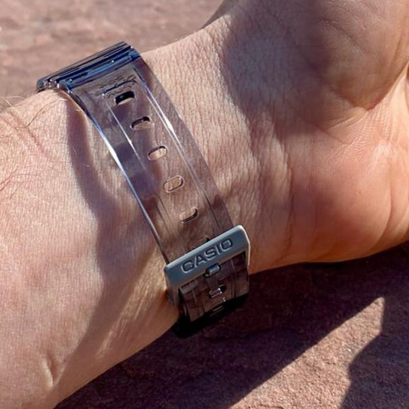 Casio Men Women Watches Casual Transparent LED Digital Sport Watch Lover's Gift Clock Waterproof Children Kid's Wristwatch F-91W enlarge