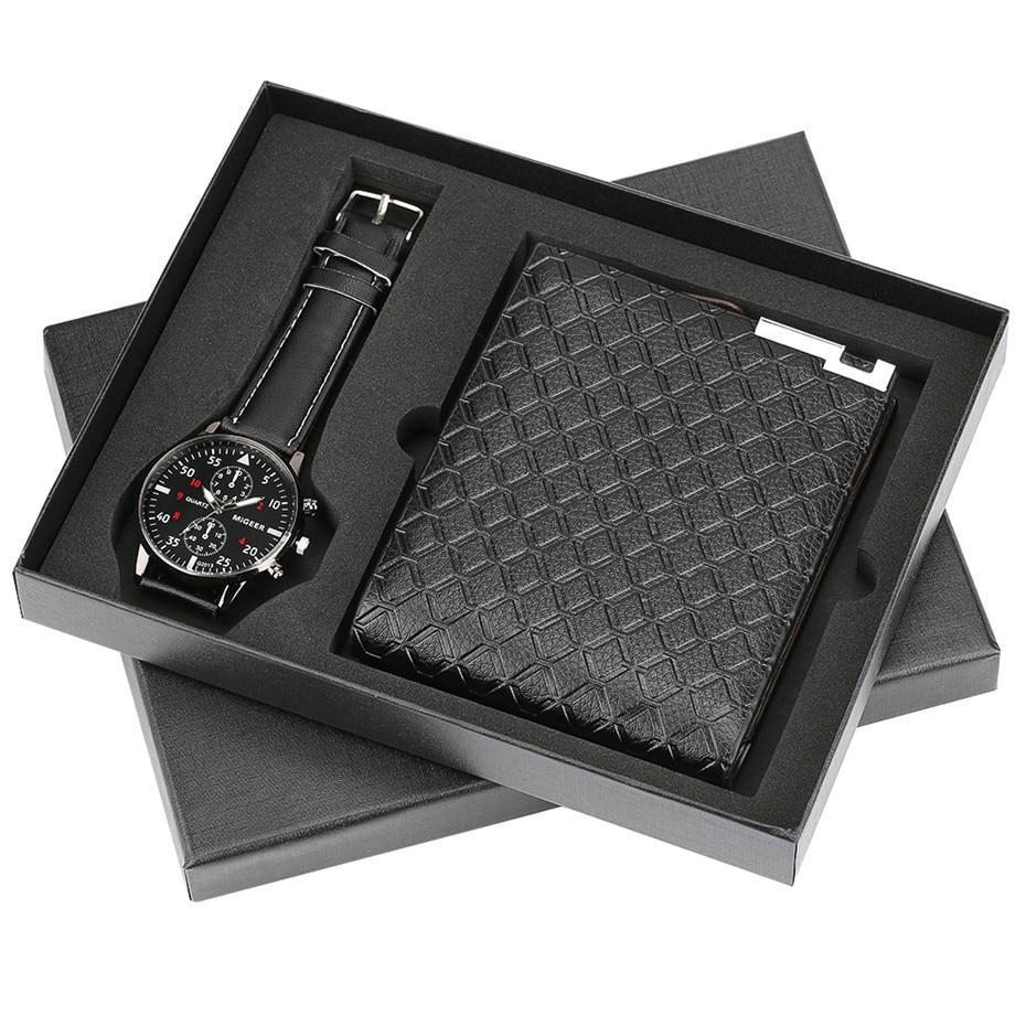 Мужской подарочный набор красивые часы + кошелек внешней торговли популярный Творческий комбинированный военные Роскошные Муж...