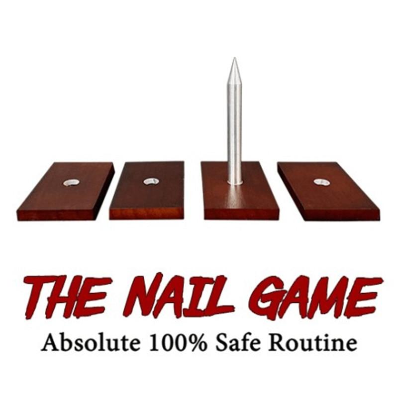 لعبة الأظافر (4 مسامير) مطلقة 100% خدع سحرية آمنة للمسرح أوهام ديرن براون عرض سحري كلاسيكي لعبة سحرية