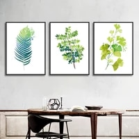 nordic small fresh plant flowers home decorative painting modular picture wall art poster canvas prints for living room framed