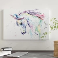 WTQ     affiche en toile dune seule piece  decoration murale avec cheval  Animal  tableau artistique pour salon  decoration de maison