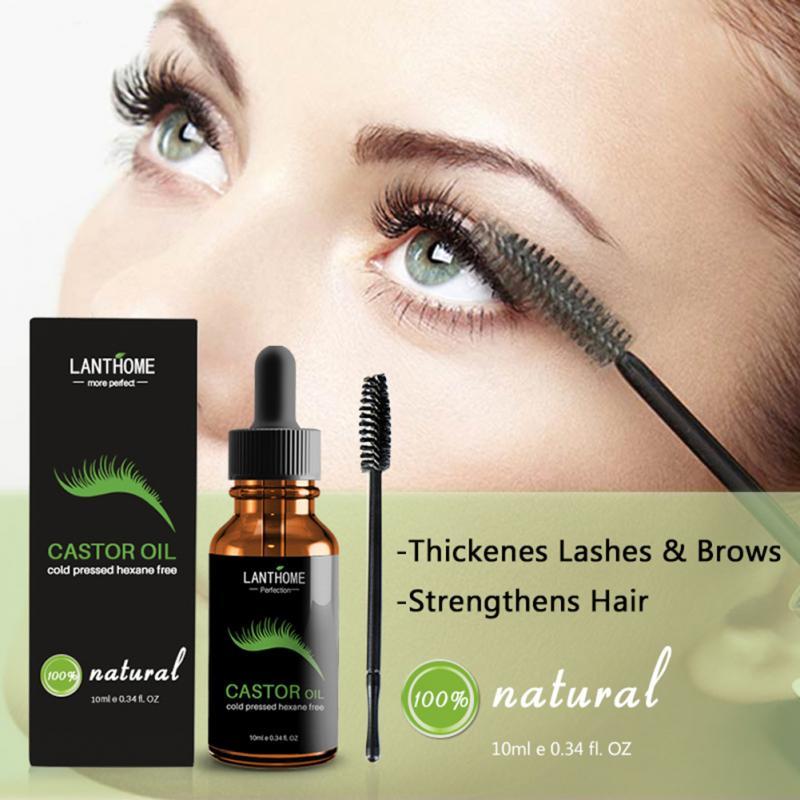 10ml Castor Oil Hair Growth Serum For Eyelash Growth Lifting Eyelashes Thick Eyebrow Growth Enhancer Eye Lashes Serum TSLM1