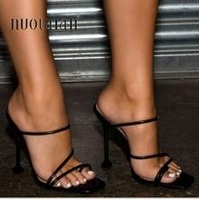2020 été pompes nouveau Sexy gladiateur sandales chaussures femmes mince talons hauts bout ouvert sandale dame cheville sangle pompe chaussures taille 35-42
