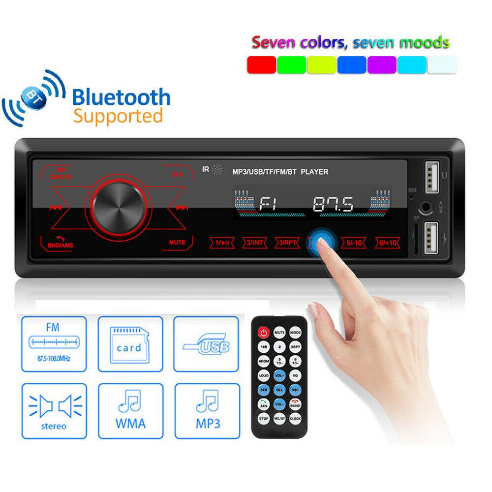 Einzel Din Hd Touchscreen Auto Radio Stereo-Player Digital Bluetooth Auto Mp3 Player Audio Musik Fm Usb Radio Bluetooth