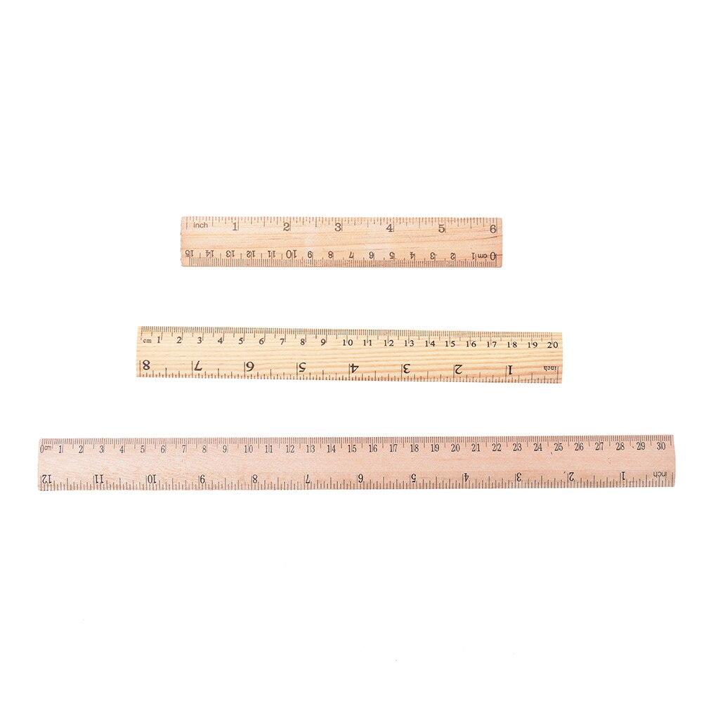 Holz Lineal Lernen & büro Schreibwaren Lineal Metric Regel Präzision Doppelseitige Mess Werkzeug