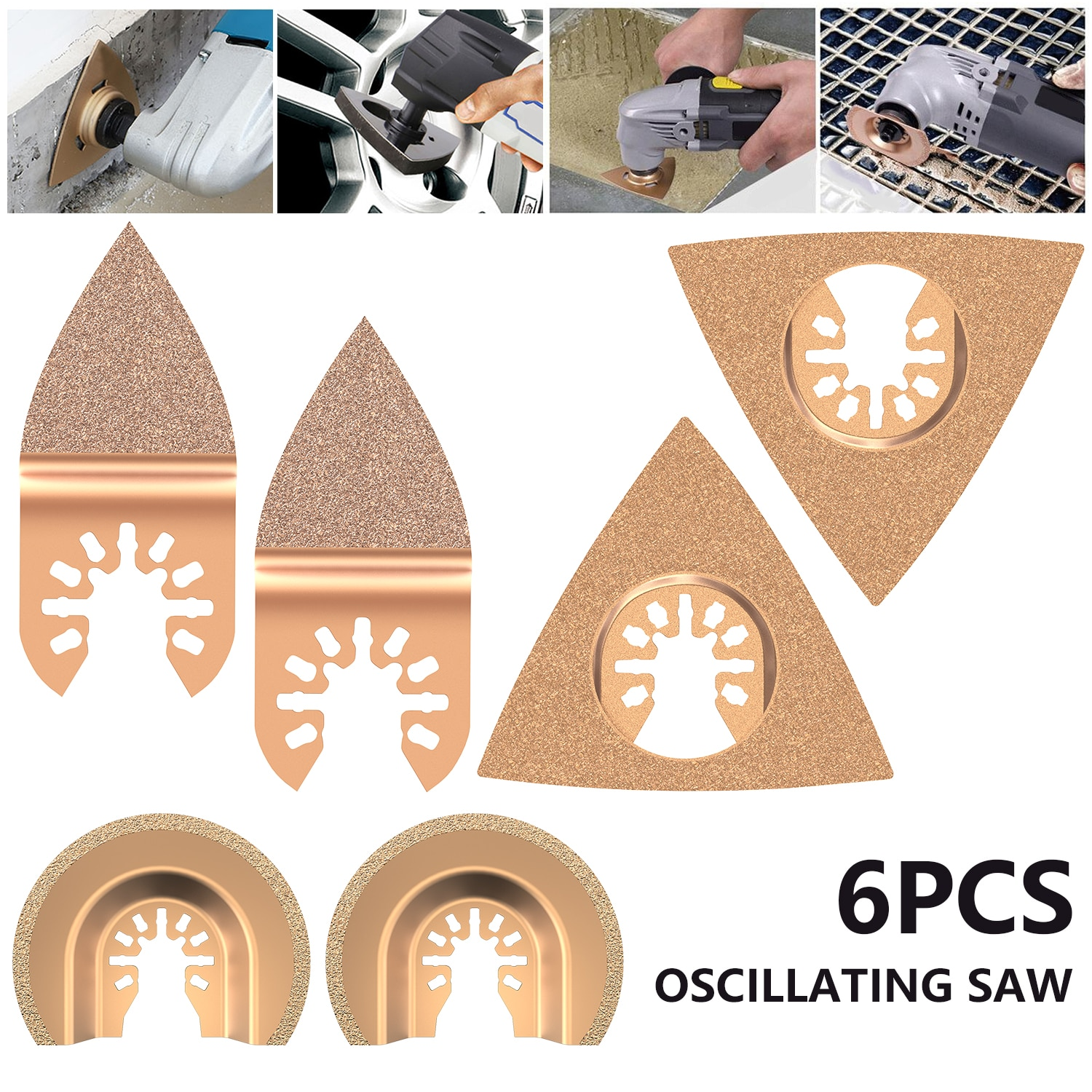 5/6/8pcs Oscillating Multi Tool Saw Blades for Renovator Power Tools As Fein Multimaster Dremel Electric Tools Accessories